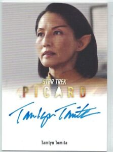 Star Trek Picard auto card A17 Tamlyn Tomita as Commander Oh (EL)