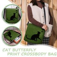 Women Cat Messenger Crossbody Shoulder Bag Satchel Shopper Handbag Tote Purse
