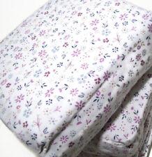 Cuddl Duds Heavyweight Multi Colors Purple Flowers Floral Flannel King Sheet Set