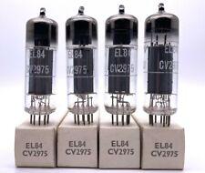 Matched Quad RFT Germany CV2975 EL84 Valves/Tubes New Old Stock (V22)