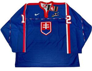 Nike Team Slovakia Hockey Jersey IIHF Peter Bondra Size 56 1998 Nagano Olympics