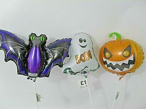 Long Lasting- x15 Halloween Balloons Hand Held Air-Filled Ghost, Bat or Pumpkin!