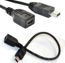 Mini USB B de 5 Pines Enchufe Macho a Hembra Cable Adaptador de datos de extensión plomo 20cm