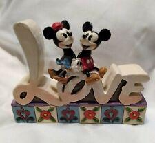 New ListingEnesco Disney Showcase Jim Shore Mickey & Minnie Love #4027140