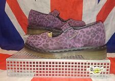 12295 Purple Leopard Print Dr Doc Martens Mary Janes*Quirky*Punk*Dolly*Kawaii*5