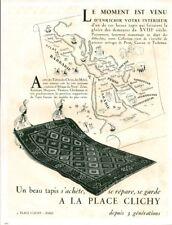 Publicité ancienne un beau tapis à la place Clichy 1946 issue magazine
