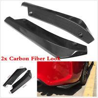 Carbon Fiber Look 2X Car Bumper Spoiler Rear Lip Canard Diffuser Anti-scratch