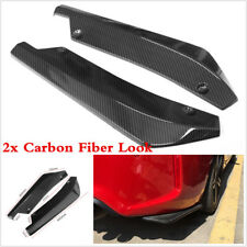 Carbon Fiber Look 2X Car Bumper Spoiler Rear Lip Canard Diffuser Anti-scratch