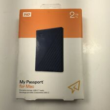 New WD Western Digital My Passport 2TB External Portable Storage For Mac