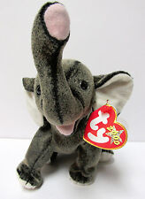"Ty Beanie Baby - ""Trumpet"" the Grey Elephant - Brand New PRISTINE w/Mint Tags"