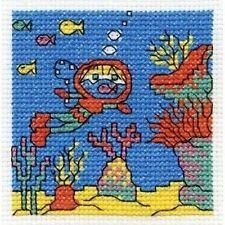 Go Deep Sea Diving Cross Stitch Kit - Make A Wish - DMC