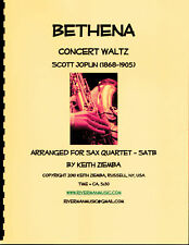 Scott Joplin Bethena Concert Waltz arr. for Satb Sax Quartet Music New