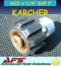 M22 x1/4F KARCHER ADAPTOR PRESSURE WASHER JET WASH HOSE