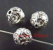 24pcs Tibetan Silver Ball Shaped Spacer Beads 10x9.5mm 942