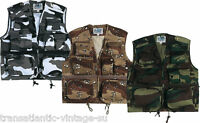 MULTI POCKET WAISTCOAT FISHING VEST OUTDOOR HUNTING SHOOTING CAMO AIRSOFT GILET