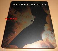 BATMAN BEGINS blu ray STEEL CASE exclusive NOLAN christian bale Liam Neeson