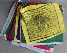 25 Tibetan Buddhist Prayer Flags Windhorse - Handstamped in Nepal