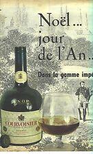 PUBLICITE ADVERTISING  1959   COURVOISIER cognac alcool gamme Impériale