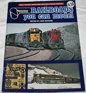 Kalmbach Book~Railroads You Can Model~Mike Schafer~1977