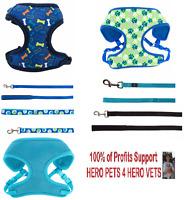 Top Paw Comfort Harness Vest & Leash Cute Boy Dog Puppy XXS XS 13inch-18inch
