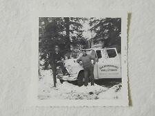 Vintage Old Photograph 2 Men Next To White GMC Truck Hunting Original Photo