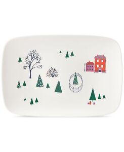 "Lenox Kate Spade Arbor Village 15.75"" Oblong Holiday Serving Platter Tray #C402"