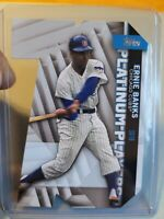 ERNIE BANKS 2021 Topps Series 1 Platinum Players Die Cut #PDC-24 SP - Cubs!!⚾️🔥