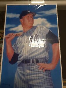 New York Yankee Mickey Mantle 11 x 17 photo