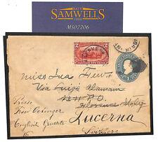 MS2206 1900s Cancelleria USA 2 C * Agricoltura * PITTORICA CD annullare Wrapper Svizzera