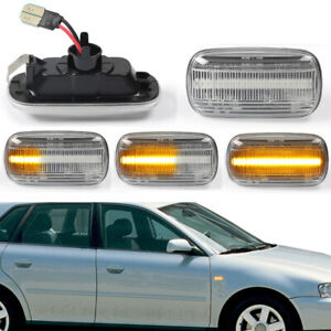Dynamic LED Clear Lens Side Marker Signal Light For Audi A3 A4 S3 S4 S6 B6 8P