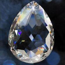 5 PCS Clear Chandelier Glass Crystal Lamp Part Prisms Hanging Drop Pendants 50mm