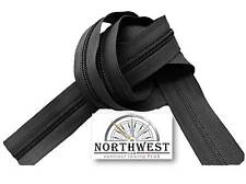 YKK Nylon Coil Zipper Tape # 8 Black 10 yards with 20 Nickle Zipper Sliders
