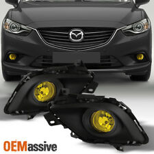 Fit 2014-2015 Mazda 6 4Dr Yellow Bumper Fog Lights W/Switch+Bulbs Replacement