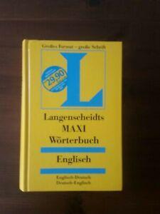 Langenscheidt Maxi Wörterbuch Englisch