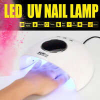 120W Professional LED Nail Fast Dryer Cure Lamp For UV Gel Nail Polish Light !