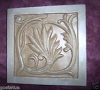 """Victorian tile mold 8"""" x 8"""" x 1"""" thick reusable casting mould"""