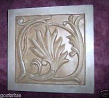 """Gostatue mould plaster,concrete  plastic victorian tile mold 8"""" x 8"""" x 1"""" thick"""