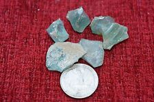 ANCIENT ROMAN GLASS  FRAGMENTS  ! 17 g 6 PCS  #0194
