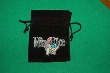 5 x 7 Black WIZ logo Dice or Miniature bag  D&D d20 rpg