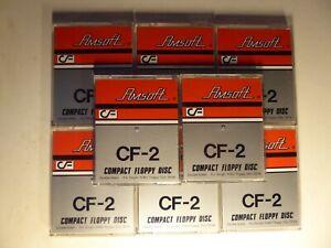 """CF-2 3"""" Compact Floppy Disc x 8 Amstrad Sinclair Tatung CF2"""