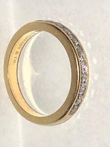 Tiffany & Co. 18k Yellow Gold Diamond Wedding Band Ring  $3,600