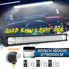 32INCH 1800W LED Conduite Travail Lampe Barre Spot Flood Combo Offroad SUV 4WD
