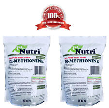 DL-Methionine Powder 100%pure Two 2.2lbs (2000 grams total) By FDCNutri