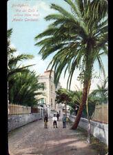 BORDIGHERA (ITALIE) via dei COLLI e VILLINO DOVE MORI MANLIO GARIBALDI en 1918