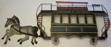 French Horse Drawn Trolley Toleware Metal Wall Paris Cafe Decor Mottahedeh & Co