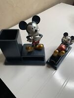 Vintage mickey and minnie mouse office accessories disney office stapler pen cup