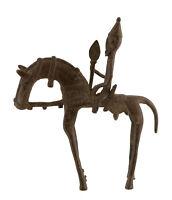 Cavaliere Dogon Bronzo Del Mali Arte Africano -21 CM Aa 866