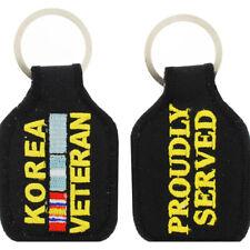 Korea Veteran Service Ribbon Embroidered Key Chain