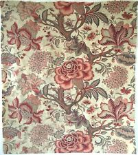 Very Beautiful 19th C. French Printed Cotton Floral Jacobean Fabric  (2891)