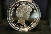 2017 £5 Princess Diana 20th Anniversary 1oz Silver Proof Coin  ONLY 1,962 minted